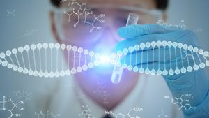 Biotechnology Training - Gene therapy concept. Medical technology.